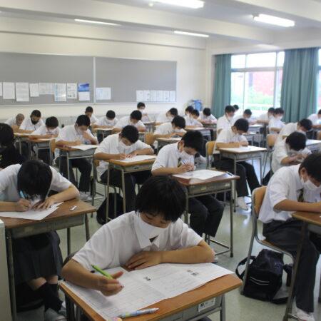 前期中間試験の第1日目が終了しました。
