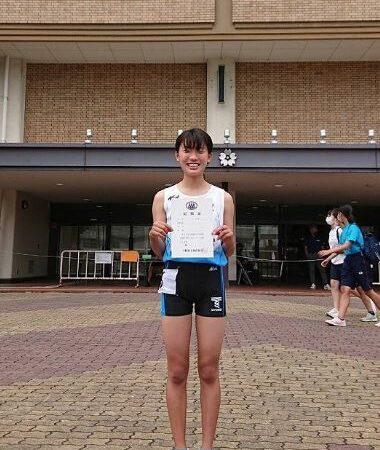 1年 光元  友梨さん 100M走 学年別大阪府記録会 優勝!