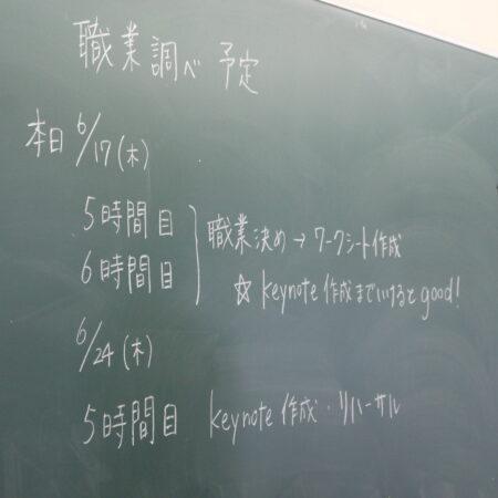 1年生  総合学習  職業調べ!