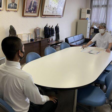 高校3年生 東海大学付属推薦 校長面接試験